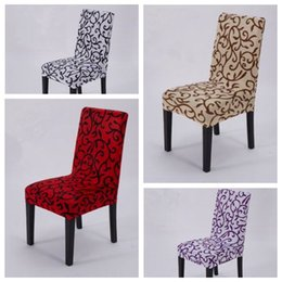 Wholesale Dining Rooms Chairs - 4 Colors Elastic Force Chair Cover Slipcovers Dining Room Wedding Party Banquet Short Chair Covers Home Textiles Chair Covers CCA7172 200pcs