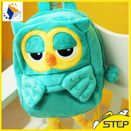 Wholesale High School Toys - Hot Sale Cute Owl Plush Backpacks Small School Backpacks for Kids Gifts for Children High Quality Free Shipping ST013