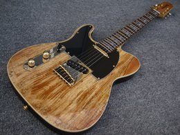 Wholesale Vintage Guitar Left Handed - 69' vintage LEFT HAND Spalted maple top John 5 Tele Electric Guitars China Guitarras free shipping