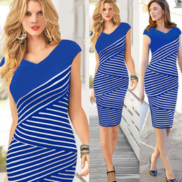 Wholesale plus size maxi dresses sale - Hot sale Women Summer Dress 2016 Sexy Hip Stripe Pencil Dress Plus Size Casual Long Dress Party Maxi Dress Vestido de festa