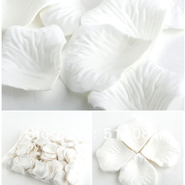 Wholesale Petal Fabric - 10000Pcs White Wedding Party Decoration Table Confetti Fabric Silk Flower Rose Petals
