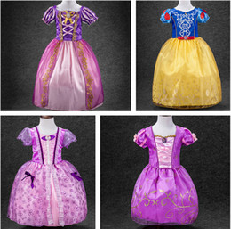 Wholesale Kids Stage Clothing - Snow White princess dress cosplay dress party girl clothing Fashion Dress boutique Children skirts Baby Kids Clothing 689