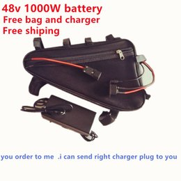 Wholesale Rechargeable Electric Scooter - Free shipping 48v electric bike battery 48v 20ah battery for 48v 20AH 1000w motor e bike batteries scooter kit +2A charger