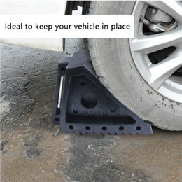 Wholesale wheel blocks - Rubber Car Wheel Chock Stop Cushion Non-skid Road Barrier Block Tool Heavy Duty 3 Ton for Car