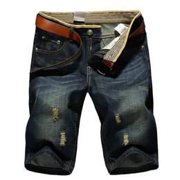 Wholesale Jeans Length Men - Brand Summer Mens Class Shorts Jeans Straight Denim Breathable Fashion Casual Men Knee Length Jeans 503