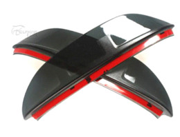 Wholesale Eyebrows Cars - 1 Pair Car Styling Rearview Mirror Eyebrow Rainproof Flexible Blade Protector PVC Accessories For Kia Sportage 2010-2015