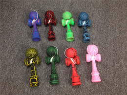 "Wholesale paint free games - Free DHL Shipping 4.92*1.49""Crack Paint Kendama Ball Skillful Jling Game Ball"