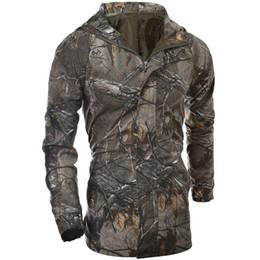 Wholesale Tactical Jacket Hoodie - Fall-Autumn Jacket Men Outdoor Sport Army Camouflage Coat Military Men Tactical Jacket And Men Hoodies Army Forest stealth clothing