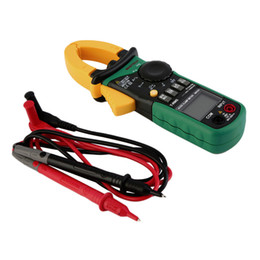 Medidor de grampo rms on-line-Nova AC Digital Clamp Meter Multímetro New Tester Dc Voltagem Rms True Amp Test new arrival