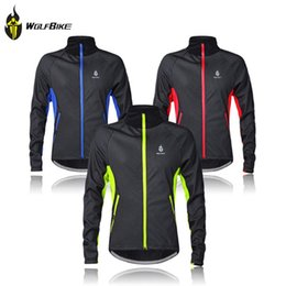 Wholesale Thermal Wear Clothes - Wholesale-Winter Thermal Fleece Cycling Jersey Long Sleeve Cycling Clothing Windproof Warm Mountain Road Bicycle Bike Outer Wear G2016