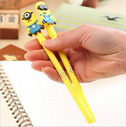 Wholesale Christmas Stationery Free Shipping - Minions Despiable Me Ballpoint Pens Cartoon Cute Stationery Gel Pen Papeleria Student Office Prize Children Gift for Christmas Free Shipping
