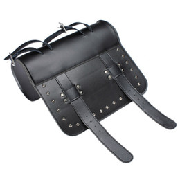 Wholesale leather bag handles wholesale - Black Prince's Car Motorcycle Saddle Bags Cruiser Tool Bag Luggage Handle Bar Bag Tail Bags Pacote Motos Front Rear Multifunctional