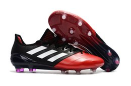 Wholesale Male Football Shoes - 2018 Hot ACE 17.1 Leather FG Men's Soccer Shoes Outdoor Soccer Cleats New Male Football Shoes New Arrive Mens ACE 17.1 Football Cleats