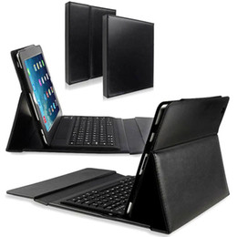 Wholesale Ipad Keyboard Prices - Wholesale-Factory Price NEW Bluetooth Silicone Keyboard Stand Leather Case Cover For iPad Air 2 51112