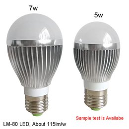 Wholesale Led E27 Lm - Promotion E27 light Bulbs 5W 7W Globe Bulbs Lights LM-80 SMD2835 Warm Pure White Super Bright LED Lights
