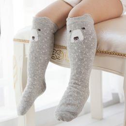 Wholesale Nylon Socks For Children - Cartoon Cute Children Socks Bear Fox Dog Owl Animal Pattern Baby Kids Cotton Socks Knee High Long Leg Warmers for Toddler Boy Girl