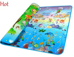 Wholesale Eva Play Mats - 150*180 Childrens Game Mats Soft Developing Crawling Rugs Play Puzzle Letter Cartoon Eva Foam Mat Pad Floor Baby Ocean Pattern Mat SV010374