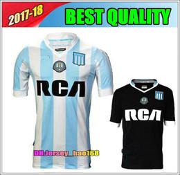 Wholesale Racing Jerseys - 2017 2018 Top Thai quality Argentina Racing Club de Avellaneda jersey Home away MILITO LISANDRO Racing football Shirt