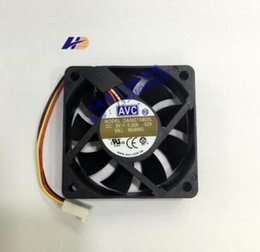 Wholesale Avc Fan Cpu - Original DA06015B05L 60*60*15 5V 0.2A AVC three wire speed fan CPU fan