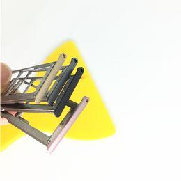 Wholesale Micro Sim Slot Replacement - Wholesale- New SIM Card Slot Holder For Meizu Meilan M3s Micro SD Card Slot Tray Socket Adapter Replacement Repair Spare Parts