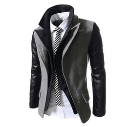 Wholesale Korean Zipper Jackets Hoodies - Wholesale-Free Shipping 2016 Men's Double Hoodie Jacket Special Design Men Korean Style Blazer Suit Winter Male Clothing AQ80020