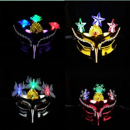 2019 ohrring vielfalt Galvanik leuchtende Schönheitsmaske, Make-up-Party Maske, Prinzessin Make-up-Maske, eine Vielzahl von Mischhaar Großhandel günstig ohrring vielfalt