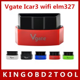 Wholesale Code Reader For Pc - 2016 New Arrival original Vgate iCar3 Vgate icar 3 Wifi ELM327 OBD OBDII OBD2 icar3 elm327 wifi For Android  IOS PC free shipping
