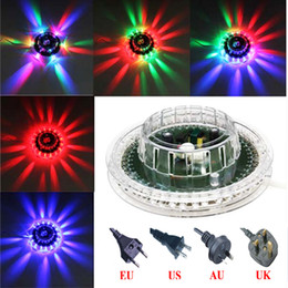 newest rgb colorful sunflower ufo mini led stage light bar disco spotlight home party dj ktv club pub decoration - Disco Party Decorations