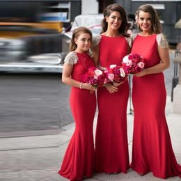 Wholesale Sparkly Satin Wedding Dress - Latest Long Bridesmaid Dresses Fashionable Sparkly Beaded Short Sleeves Mermaid Bridesmaid Gowns Formal Wedding Party Gowns