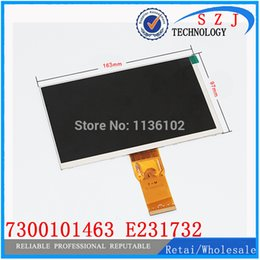 Wholesale U25gt Tablet Pc - Wholesale- Original 7'' inch 163*97mm 7300101463 E231732 HD 1024 * 600 LCD display screen for cube U25GT tablet PC free shipping
