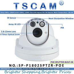 Wholesale Pir Mp - TSCAM new SP-P1802SPTZR-POE ONVIF PTZ Dome IP Camera POE Full HD 1080P 2.0MP with Zoom PIR Micro SD TF Card Slot