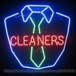 2019 loja de limpeza O hotel de lavagem do motel da loja do sinal de néon dos líquidos de limpeza veste os artigos de limpeza O indicador de vidro real da propaganda do tubo de vidro dos nomes de néon veste o sinal 24