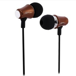 Wholesale Mobile Fone - 10pcs lot JBMMJ MJ8500 Earphones Dynamic Stereo Super Bass In-ear Metal Earphones Fone De Ouvido for Mobile Phone Sports Gaming