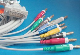 Wholesale Ecg Lead Cable - Wholesale-Schiller ECG EKG Cable 10 Leads Banana4.0 AHA for Bionet, Welch Allyn, Compatible 293-032-60