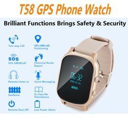 Wholesale Monitoring Children Phone - T58 GPS Tracker Kids Adult Elder Smart Watch SOS Safety Call Locator GSM Tracking Device LBS WiFi Monitor Clock Smartwatch Ann