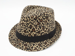 2019 sombreros de leopardo para hombres Cool leopardo de impresión de algodón Stingy Brim sombreros Panamá Top sombreros para mujeres y hombres 10pcs envío gratis sombreros de leopardo para hombres baratos