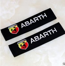 Wholesale fiat car cover - Seat Belt Cover Pure Cotton Car Styling Case For Fiat 500 Abarth Punto 124 125 500 695 OT2000 Accessories Car-Styling 2pcs lot