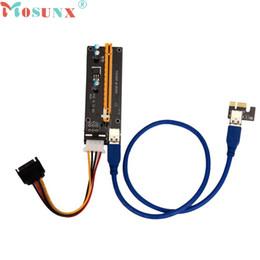 Grossistes en gros en Ligne-Vente en gros - Ecosin2 PCI-E Express carte riser alimenté avec USB 3.0 extender câble 1x à 16x Monero JUL 4 Levert Dropship