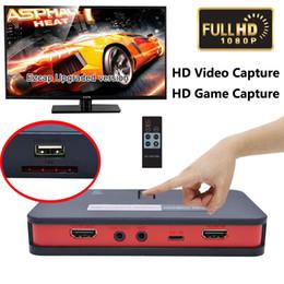 Jeu vidéo ps4 en Ligne-HD 1080 P Capture Vidéo EZCAP 284 Télécommande HD Jeu Capture AV / HDMI / YPbPr Enregistreur Pour Xbox 360 / PS3 PS4 / WiiU