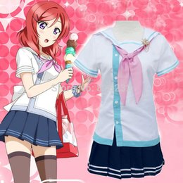 Wholesale School Sailor Outfits - Wholesale-Lovelive Love Live Nishikino Maki Navy Sailor Suit School Uniform Dress Outfit Anime Cosplay Costumes