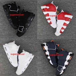 Wholesale Orange Bulls - [With Box] Newest Air More Uptempo Basketball Shoes Olympic Release Bulls Gold Varsity Maroon Black Men Scottie Pippen Shoes