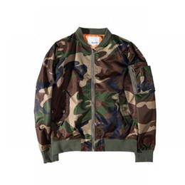 Wholesale Mens Military Cotton Jacket - Mens Jackets And Coats Kanye West Ma1 Bomber Jacket Camouflage military Jacket Windbreaker Ma1 Flight Jacket Men Coat Clothes