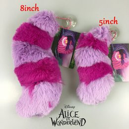 """Wholesale Cheshire Cat Toy - Free Shipping EMS Alice In Wonderland Cheshire Cat Tail 8"""" 20cm Plush Doll Stuffed Toy For Gifts"""
