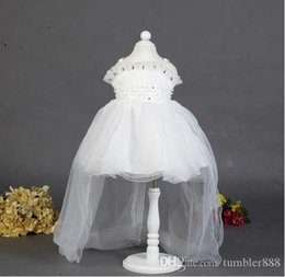Wholesale Tutu Kind - A child wearing Princess Dress Wedding Flower Girl Dress shoulder sleeve with 2016 new girls can choose two kinds of styles