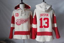Wholesale Detroit Sweatshirt - Detroit Red Wings Hoodies Jerseys Blank Pavel Datsyuk Henrik Zetterberg Niklas Kronwall Dylan Larkin Stephen Weiss Hoodies Sweatshirts