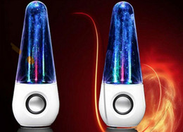 Wholesale Dancing Water Mini Music Speakers - Hot new LED Dancing Water Music Fountain Light Speakers Creative Music Player dual speakers for PC Laptop iPhone iPad4 iPod wholesale