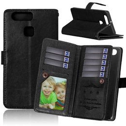 Wholesale Huawei Ascend Honor Cases - Multi-function Wallet Leather Case 9 Card Slot Pouch TPU Stand Photo Money For Huawei Ascend P8 P9 Lite G7 Y625 Y635 G620S Honor 4 Play Skin