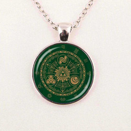 Wholesale Zelda Glass - The Legend of Zelda pendant necklace,Zelda Glass dome symbol pendant movie fashion jewelry