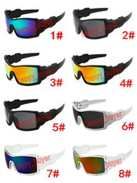 Wholesale Men Cycling Sunglasses - Super Cool Outdoor Sports Cycling Wind Goggle Sunglasses For Men Oil Rig Resin Lenses Designer Sun Glasses Exceptional Quality Low Price