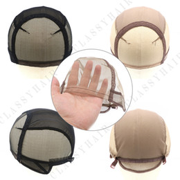 Wholesale Lace Weaving Cap - Lace Wig Caps for Making Wigs Adjustable Wig Cap with Strap Swiss Caps Weaving Cap Small Medium